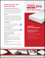 Foam-Control EPS Direct-To-Deck Product Literature