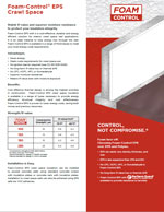 Foam-Control EPS Crawl Space Product Literature