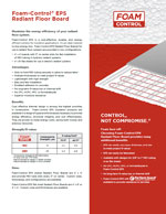 Foam-Control EPS Radiant Floor Board Product Literature