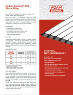 Foam-Control EPS Roofing - Flute Filler Product Literature