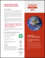 Foam-Control EPS & the Environment Product Literature