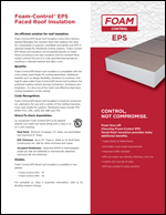 Foam-Control EPS Faced Insulation Product Literature