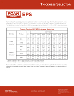 EPS R-value Thickness Selector Product Literature