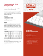 Foam-Control EPS Holey Board Product Literature