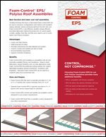 Foam-Control EPS Polyiso Roof Assemblies Product Literature
