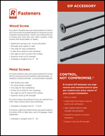 SIP Fasteners Product Literature