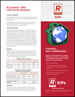 SIP Life Cycle Analysis Product Literature