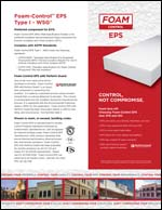 Foam-Control EPS Type I-WSG Product Literature
